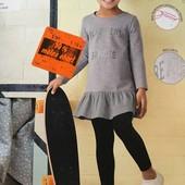 Очаровательное трикотажное платье,двунить Lupilu размер 86-92