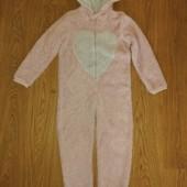 Слип пижама домашний комбинезон 10-11лет замеры на фото