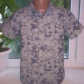 Фирменная стильная рубашка TU (Ти-Ю), на 7лет, рост 122см, качественная, мерки есть