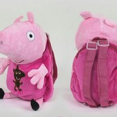 Новый мягкий рюкзак Свинка Пеппа 28 см, отличное качество. Собирайте детские лоты