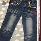 Джинсы варенки для модницы 2-4 лет.