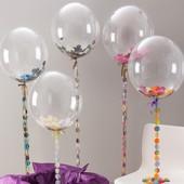 Воздушный силиконовый шар Bubbles, 50х50 см, в лоте 1 шт, подробно в описании!