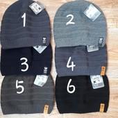 Фирменные мужские шапки на флисе, а также подросткам! Размер 56-58