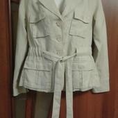 Фирменный новый льняной пиджак р. 10-14.