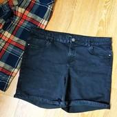 Суперові, чорні джинсові шортіки від George, 20