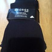 Школа!!! Лот 6 пар носки гольфы безразмерные George ( черные)смотрите описание