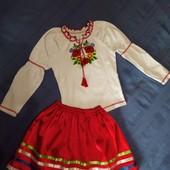 Вышиванка и юбочка - набор на 6-8 лет