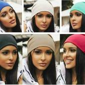 Женская шапка трикотажная 9 цветов.