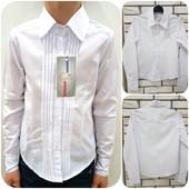 Красивая белая школьная блуза рубашка для девочек! Нарядная и стильная!!! Два вида!
