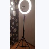 Лампа кольцевая Led лампа для визажистов, фотографов, блогеров, бровистов напольная Sy-d240c 24w
