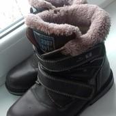 Зимние ботинки мальчику 33 р-ра,стелька 20 см