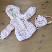 Куртка для маленької принцеси демісизонна, можна на зиму 4-5років