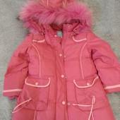 Зимний пуховик - пальто на 5-6 лет