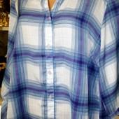 Собираем лоты!! Лёгкая блуза в клетку на пышную красу, размер 16