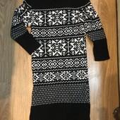 Тёплое платье-туника в новом состоянии