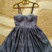 Кружевное платье-бюстье Jennyfer (чашка А, неполная В) на подкладке, размер S. Сток!