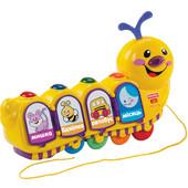 Говорящая музыкальная игрушка Fisher-price Ученая Гусеница каталка укр