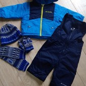 Деми комплект комбинезон и куртка Columbia набор Next шапка, шарф, рукавицы