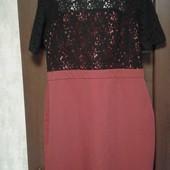 Фирменное красивое платье в хорошем состоянии р. 16-18