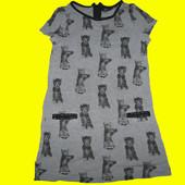 Новое платье с котиками,рост 110 см,Next