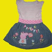 Летнее платье с Пеппой,рост 98-104 см,Peppa Pig