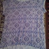 Летняя легкая женская футболка блузка
