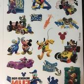 татушки и мальчику и девочке) Mickey 3 листа,50 тату,все разные! Испания!