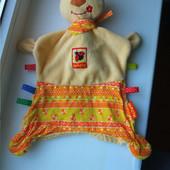 Мягкая игрушка для малышей Медвежонок- обнимашка Тихоня Macik с пищалкой
