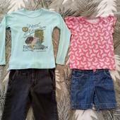 Костюм комплект реглан джинсы капри шорты 3-7л