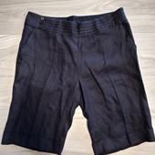 Фирменные новые льняные шорты-кюлоты длиной по колено р.16-18