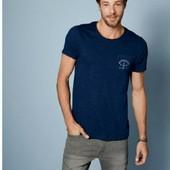 Стильная котоновая футболка с карманом Livergy 52/54 замеры