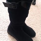 Продам кожаные зимние сапоги 38 размер на 24.5-25 см ногу