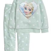 Флисовая пижама, теплый плюшевый домашний костюмчик. H&M Disney