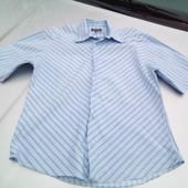 Стоп!!,фирменная натуральная красивая рубашка- поло