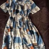 Платье большой размер вискоза на пуговицах интересная расцветка