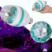 Вращающаяся разноцветная диско лампа LED