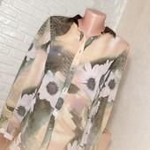 Красивая шифоновая блуза XL