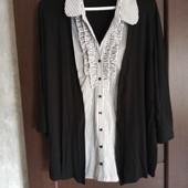 Фирменная новая вискозная блуза 2в1 р.24-26