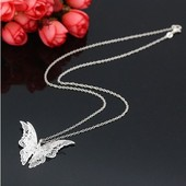 Ожерелья с подвеской в виде бабочки c стразиками