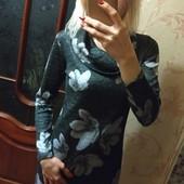 Красивое платье ангора-меланж с люрексовой нитью, замеры!