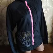 Женская деми куртка на флисе и синтепоне Аdidas, размер L (46-48) нюанс.