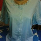 Блузка нежноголубого цвета на 46-48(укр.)