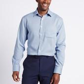 ☘ Новая с бирками☘ Рубашка с длинными рукавами из хлопка Marks&Spencer (Англия) размер: 43(L)