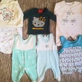 Пакет одежды на девочку от 0 до 9 месяцев.