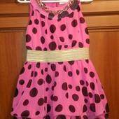 Новое шифоновое платье Han.A для девочки 6-8 лет