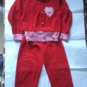 Велюровый спортивный костюм на 2-5 лет