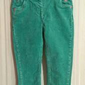 Зеленые вельветовые штаны Next р. 1,5-2 года