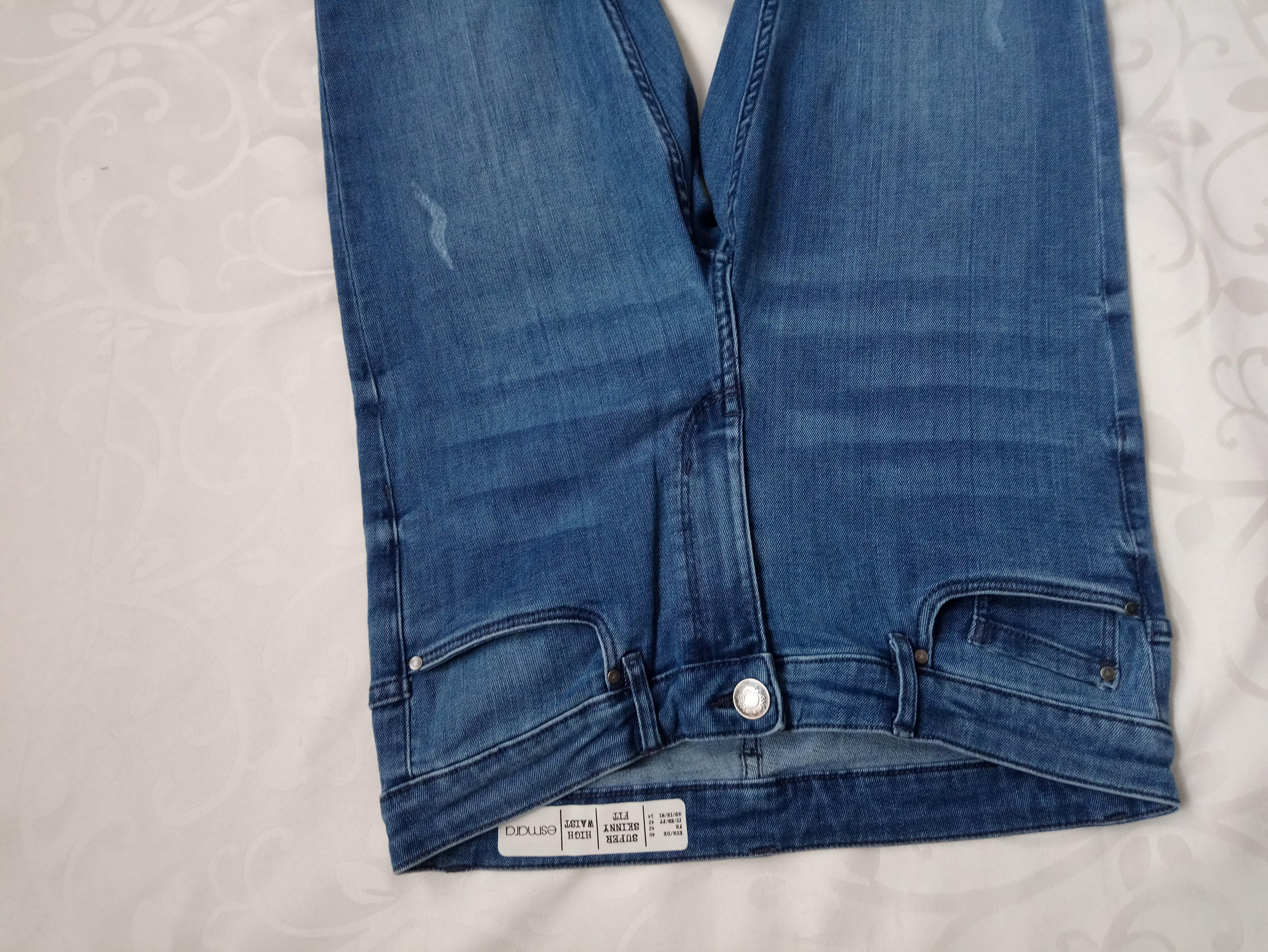 Esmara Германия Коттоновые завышенные джинсы скинни 40р евро - Фото №3