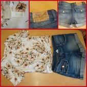 H&M / C&A Футболка + шорты 14-16 лет или S шорти джинсові джинсовые