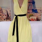 Шикарное платье плиссе, лимонного цвета, Miss Selfridge, размер L - XL.